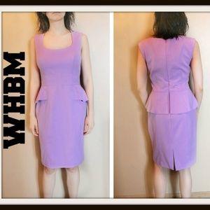 White House Black Market Peplum Dress